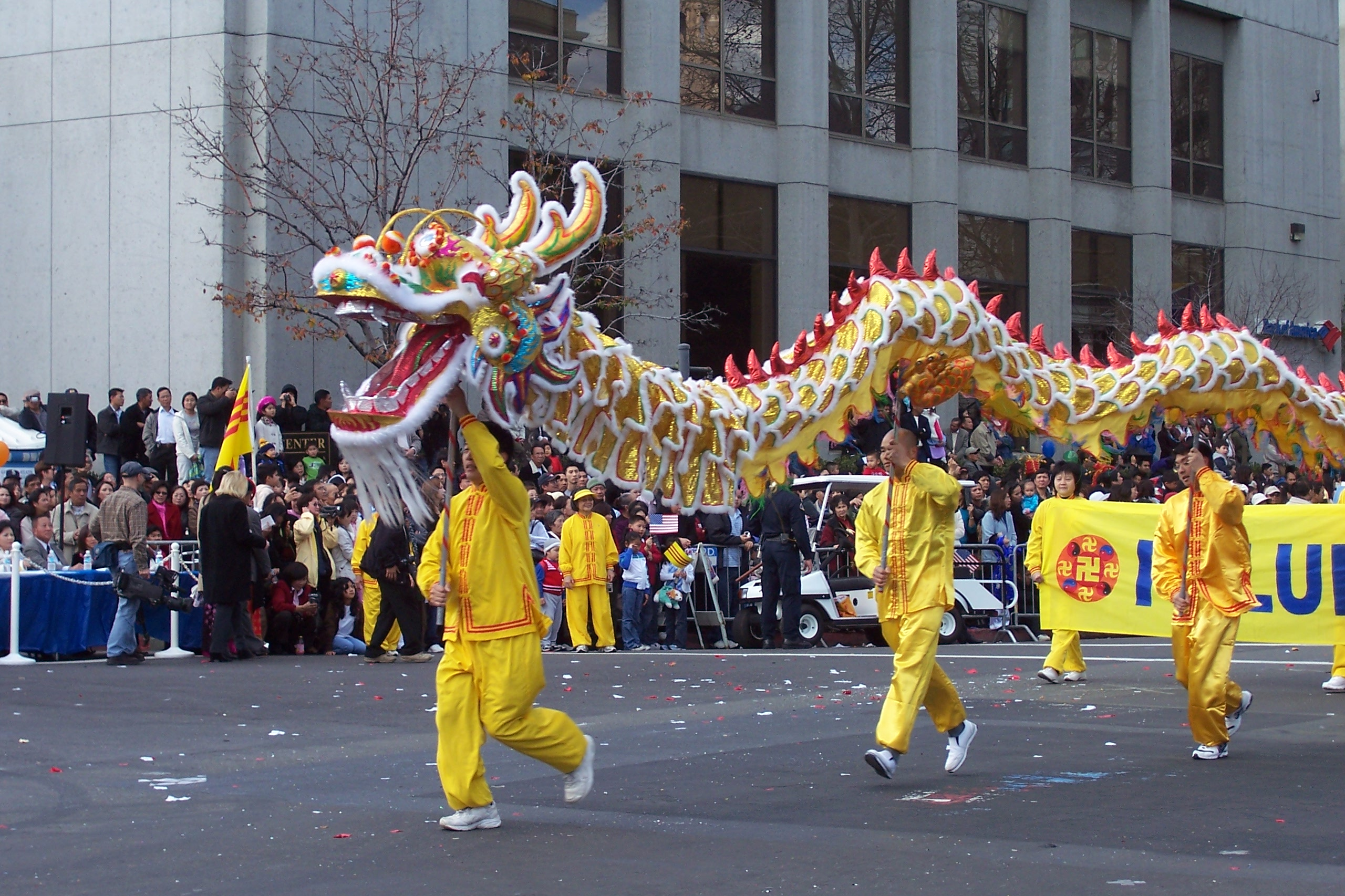 San jose california falun gong well received in chinese for Chinese new years parade